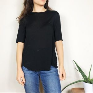 Vince Mouline Wrap Seam Loose Fit Tee Shirt